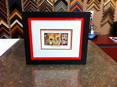 """James Rizzi 3-D """" Jelly Bean  """" Signed & Numbered Custom Framed"""