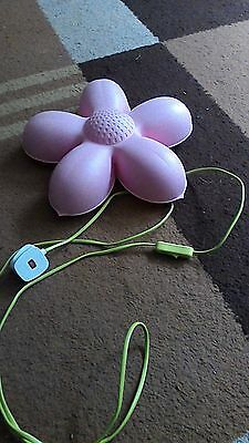 Girls Ikea Simla Blooma Pink Flower Wall Light / Lamp Excellent Condition