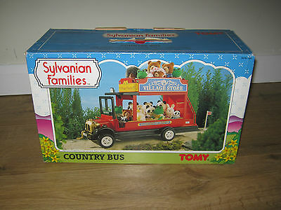 Sylvanian Families Vintage TOMY BOXED 1990s Country Red Bus
