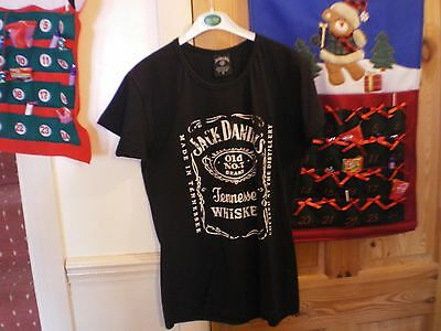 Jack Daniels Black Ladies  T-Shirt Old Number 7 Tennessee Whiskey Medium