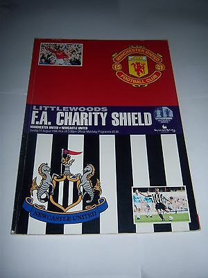 1996 FA CHARITY SHIELD - MANCHESTER UNITED v NEWCASTLE UNITED - PROGRAMME