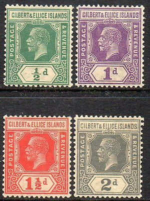 Gilbert & Ellice Islands   Kgv  Four *** M N H *** Stamps