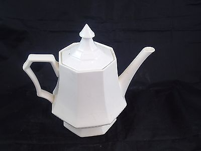 Independence Ironstone Castleton Japan White Teapot Coffee Pot Great Condition