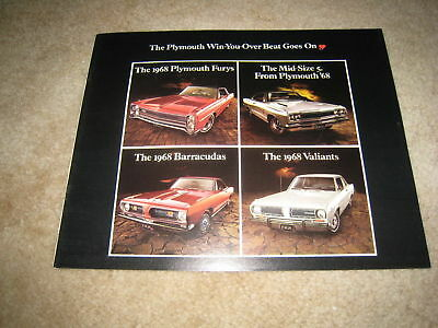 1968 Plymouth Fury GTX Satellite Valiant Barracuda Road Runner sales brochure