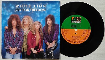 "WHITE LION 'Cry For Freedom' 1989 German 7""/45 rpm vinyl single"