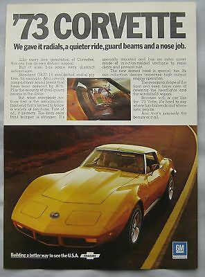 1973 Corvette Original advert