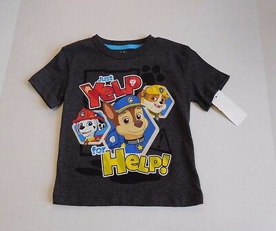 NWT Boys Paw Patrol Just Yelp For Help Short Sleeve Shirt sz 2t