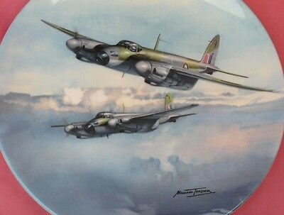 Coalport Out On Exercise Mosquito Aircraft Plate Reach For The Sky Series