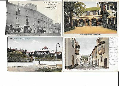 SPAIN-11 older (1907-on) hotel cards-all different, used/unused