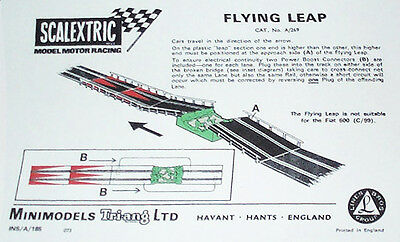 Scalextric Flying Leap, A/269 Instructions