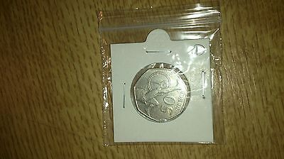 UK Commemorative circulated 50p coin (2004) - Anniversary of first 4 minute-mile