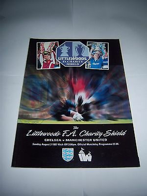 1997 FA CHARITY SHIELD - CHELSEA v MANCHESTER UNITED - FOOTBALL PROGRAMME