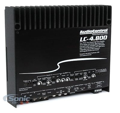 AudioControl LC-4.800 High-Power 800W RMS 4-Channel Amplifier AccuBass Amp NEW