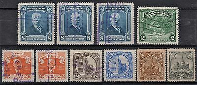 El Salvador Lot of 10 Stamps 1896-1930's-1940's Collection Used (2 MH)