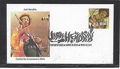 Jimi Hendrix Fdc 2014 Austin, Texas Only One Made Rock & Roll