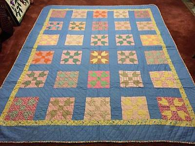 "Super Nice ""Butterfly at the Cross"" Antique Feed Sack Quilt w/Provenance"