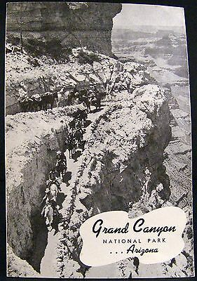 Grand Canyon National Park Booklet 1941 Arizona, Places, Map