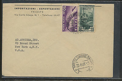 Italy   AMG  stamps  on  cover to  US                    AT0627
