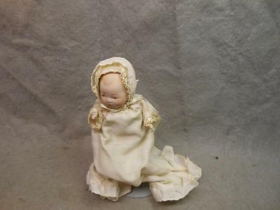 "Vintage Bisque Doll 5 Inch Marked ""l Simon P 81"" W Stand"