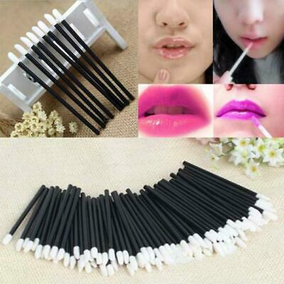 50pcs Disposable Lip Gloss Wands Lipstick Brushes Makeup Applicator Spoolers Y