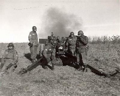 1960 MR US Army 105mm Howitzer 6th Artillery at Fort Riley Kansas 8x10 Photo