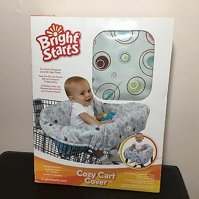 Bright Starts Cozy Cart High Chair Cover Baby Protector Toy Storage Bubbles NIB