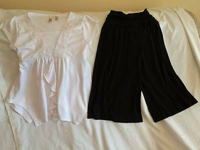 Amy Byer Girls Size 7 / 8 Black Gauchos / White Top Outfit