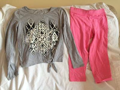 Justice / Arizona Girls Size 14 / 16 Sparkle Top / Cropped Leggings Outfit