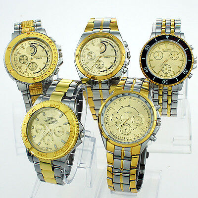 Wholesale Mixed 10PCS Different Watch Gold Luxury Men Dress Wristwatches New NGT
