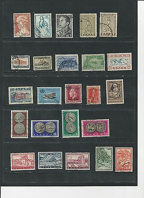 GREECE - SMALL COLLECTION OF USED STAMPS - GRE1ab