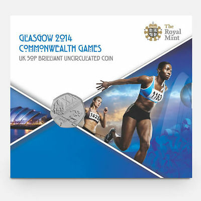 2014 Commonwealth Games 50p BUNC Fifty Pence Coin sealed in a Royal Mint Pack