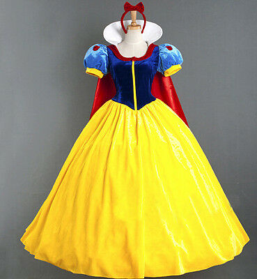 Adult Women Ladies Snow White Princess Fancy Dress Costume Fairy Tale Storybook