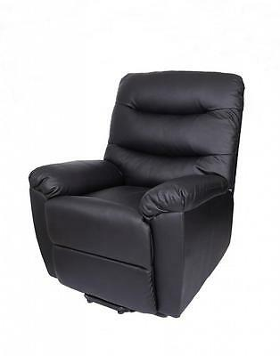 Electric Twin Motor Rise and Recliner Leather Armchair Sofa Disability