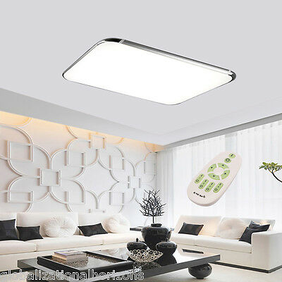 2x 48W LED Ceiling Down Light Dimmable Recessed Kitchen Bedroom Remote Control