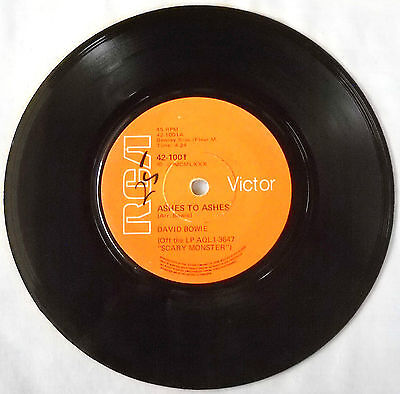 """David Bowie-Ultra Rare South Africa 45-Ashes To Ashes / Move On-7"""" Single-Exc"""