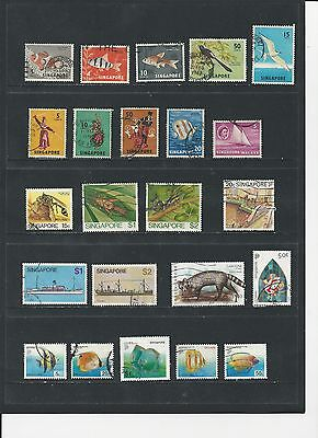 SINGAPORE - COLLECTION OF USED STAMPS - #SIN2ab - 2 SCANS