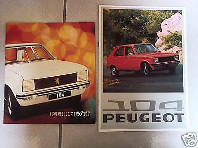 PEUGEOT 104 - 1975 + 1976 // catalogue brochure prospekt folder dépliant - lot 2