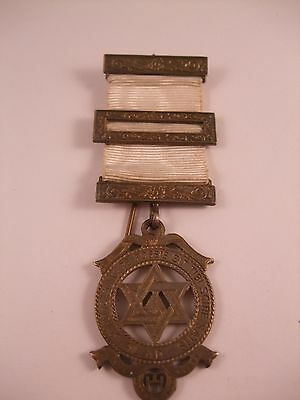 Good Vintage Solid Silver Masonic Royal Arch/chapter Jewel.