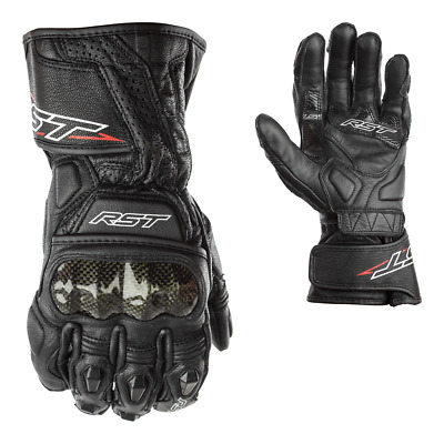 RST Delta 3 III 2128 CE Approved Sport Race Gloves Black FREE SNUG INCLUDED