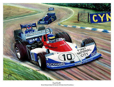 A3  Art Print - Ronnie Peterson - March 761 - Monza 1976