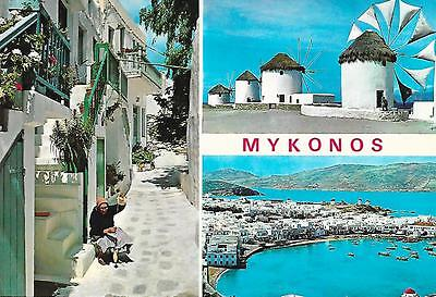 Mykonos - Greeting from - Unposted Postcard