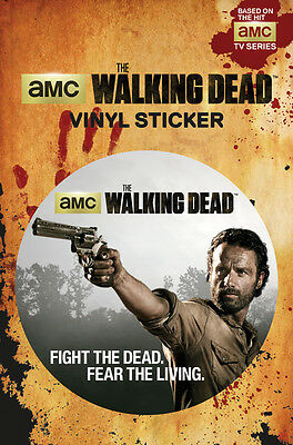 Vinyl Sticker / Aufkleber WALKING DEAD - Rick - Fight The Dead  ca9cm 283 NEU