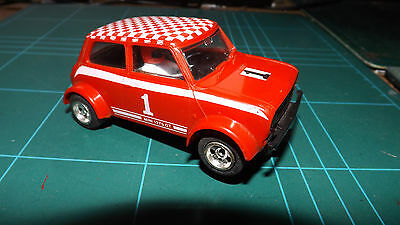 SCALEXTRIC MINI 1275GT Car - Complete With Chrome Spoke Wheels & New Rear Tyres