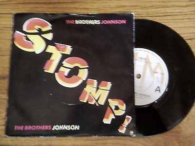 #THE BROTHERS JOHNSON  Stomp! / Let's swing 1980 A&M VINYL VG