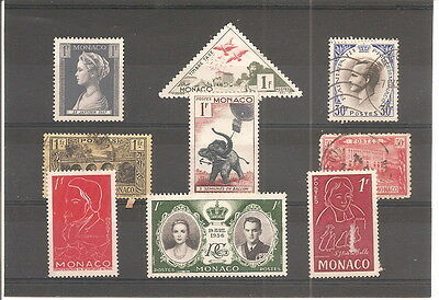 A  Sheet Of 9 Monaco  Fine Used Stamps