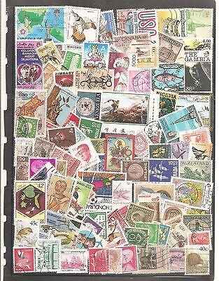 Hand Picked  100   Mixed World   Fine Used All Different  Stamps