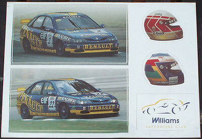 """Renault / Williams  """"Stickers"""""""