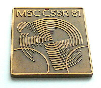 1981 UCI CYCLING Road WORLD Championships PLAQUE MEDAL nice