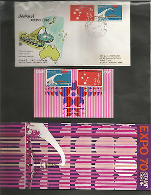 Australia Fdc-1970 Expo + Stamp Pack