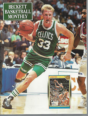 Larry Bird Cover Beckett NBA Price Guide February, 1991 Issue #7 S Kemp on Back